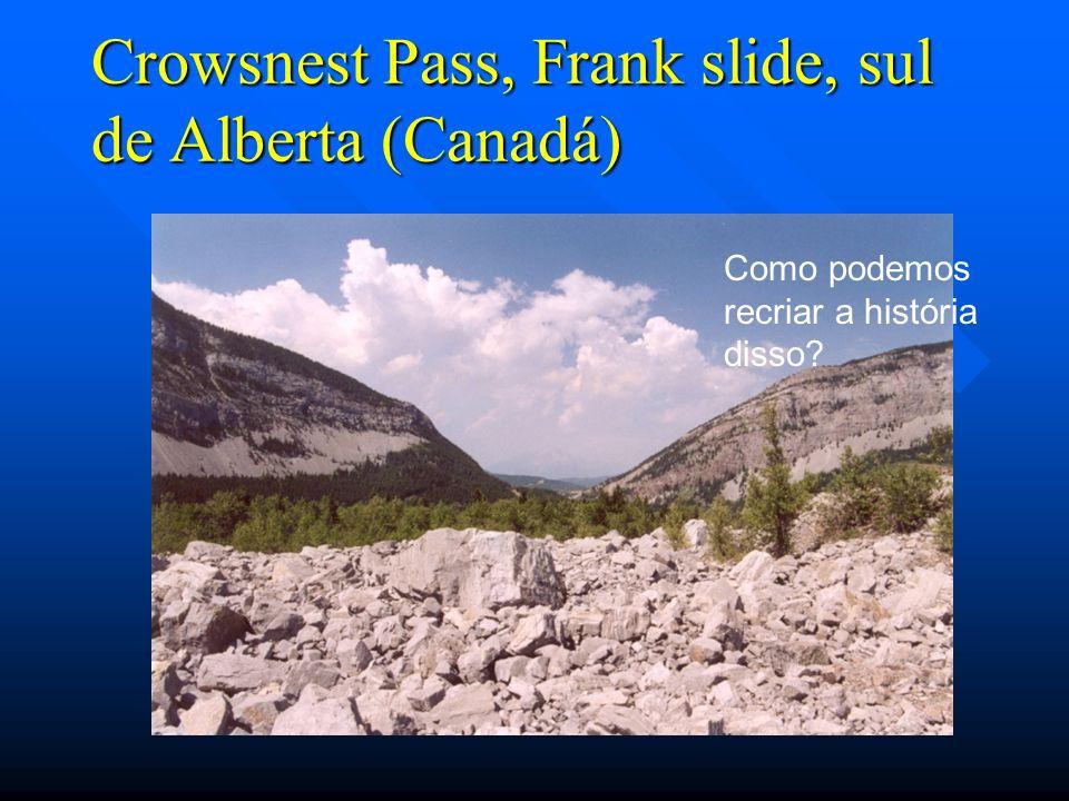 Crowsnest Pass, Frank slide, sul de Alberta (Canadá) Como podemos recriar a história disso?