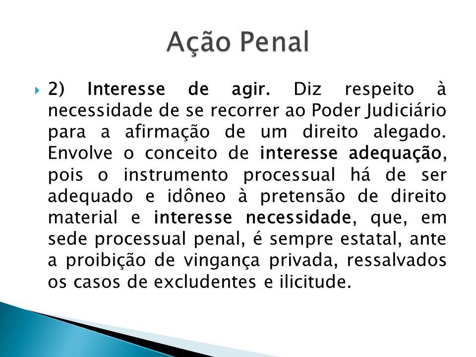 AÇÃO PENAL PRIVADA Conceito.