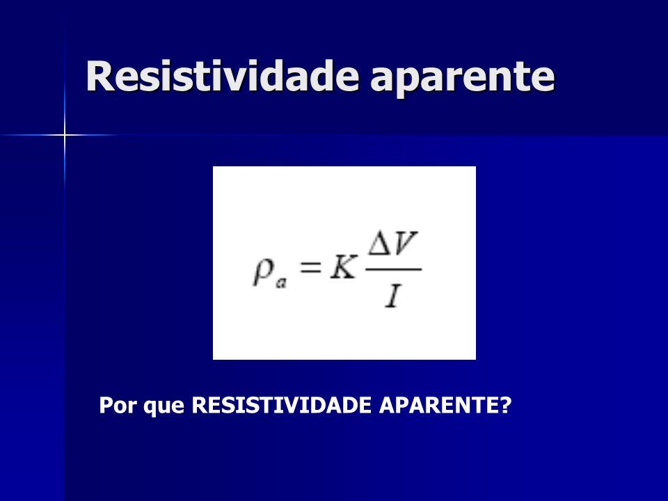 Resistividade aparente Por que RESISTIVIDADE APARENTE?
