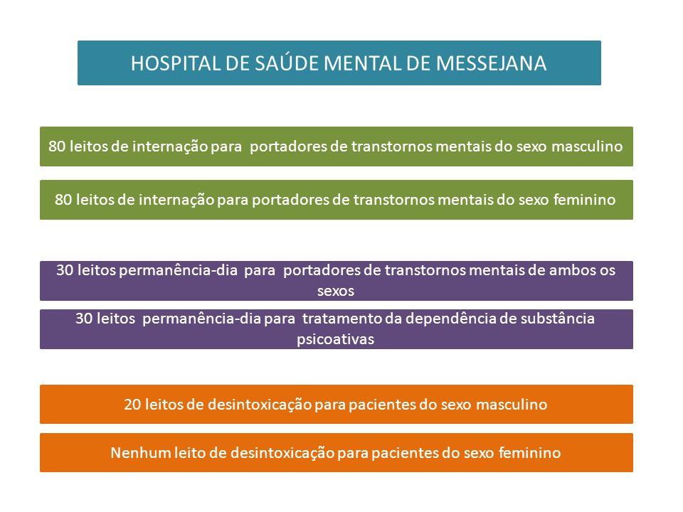 HOSPITAL DE SAÚDE MENTAL DE MESSEJANA 80 leitos de internação para portadores de transtornos mentais do sexo masculino 80 leitos de internação para po