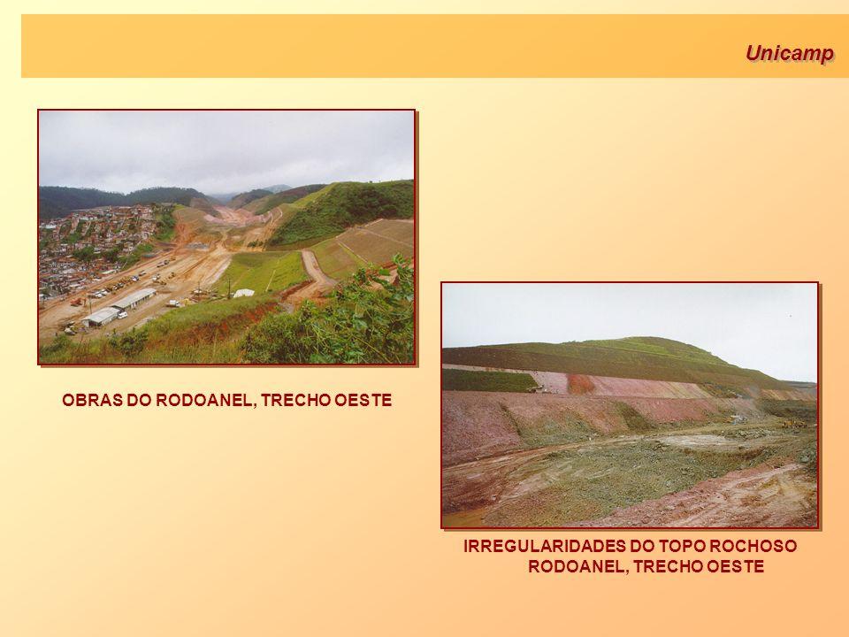 Unicamp OBRAS DO RODOANEL, TRECHO OESTE IRREGULARIDADES DO TOPO ROCHOSO RODOANEL, TRECHO OESTE