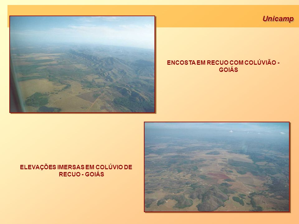 Unicamp ENCOSTA EM RECUO COM COLÚVIÃO - GOIÁS ELEVAÇÕES IMERSAS EM COLÚVIO DE RECUO - GOIÁS