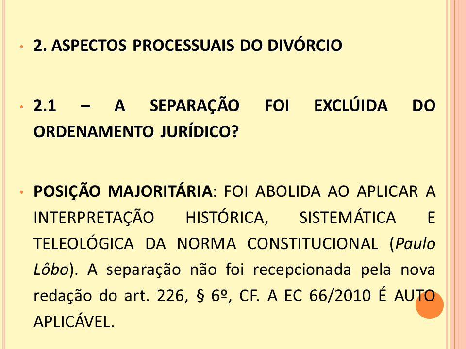 2.ASPECTOS PROCESSUAIS DO DIVÓRCIO 2.