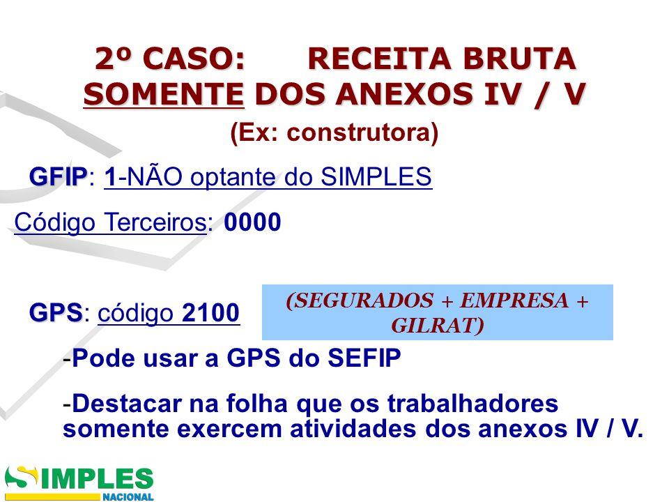 CÁLCULO TRABALHADORES C/ ATIVIDADE CONCOMITANTE ANEXOS I-III E IV-V: Contribuição da empresa: R$ 2.000,00 x 20% = R$ 400,00 GILRAT: 0,00 TOTAL PARTE EMPRESA = R$ 400,00 PROPORCIONALIZAR ESSA PARTE.