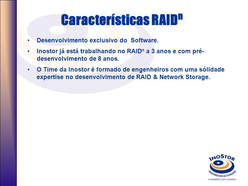 Porque RAID n Nova tecnologia que proporciona proteção superior a ambientes de missão crítica quando comparados com os produtos RAID atuais. Segurança