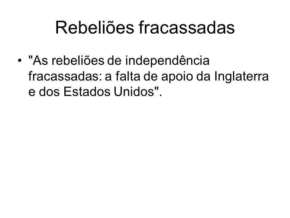 Rebeliões fracassadas