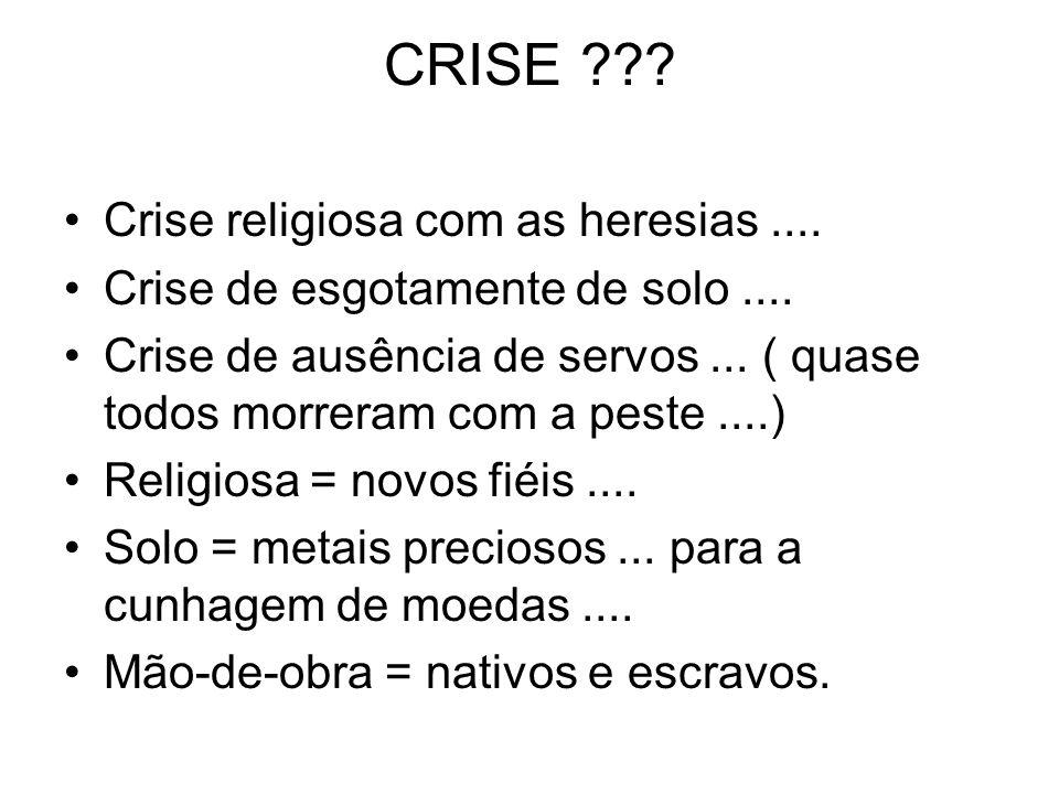 CRISE ??? Crise religiosa com as heresias.... Crise de esgotamente de solo.... Crise de ausência de servos... ( quase todos morreram com a peste....)