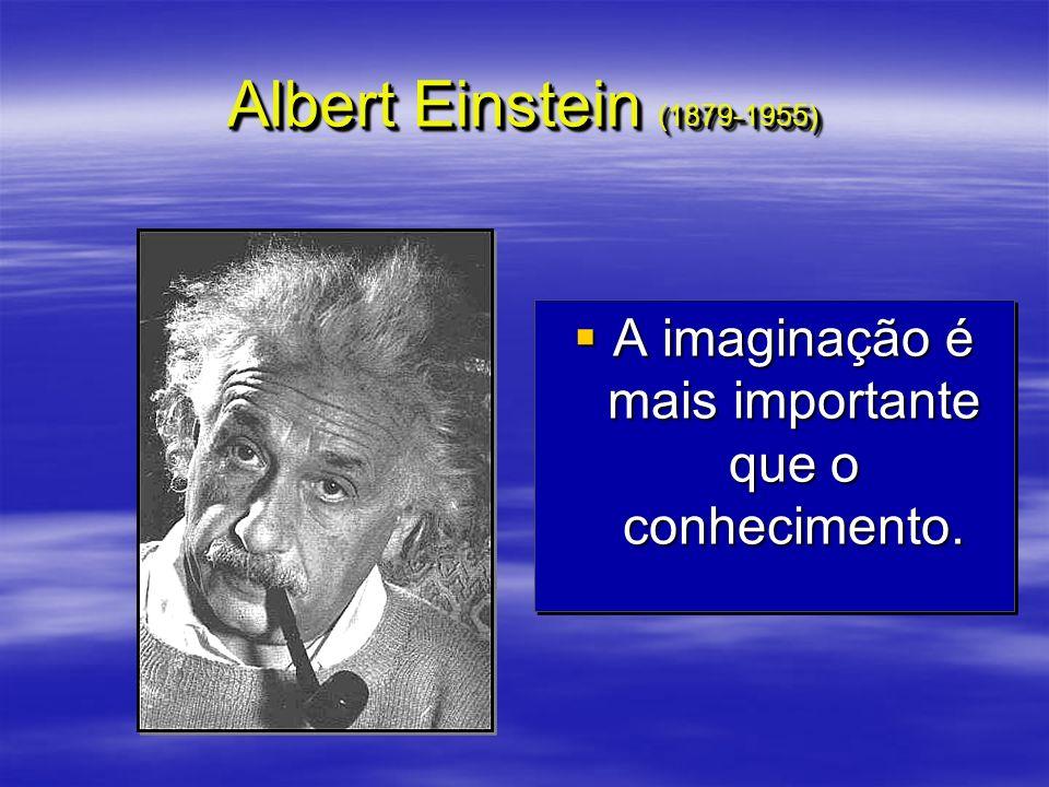 Albert Einstein (1879-1955) A imaginação é mais importante que o conhecimento. A imaginação é mais importante que o conhecimento.