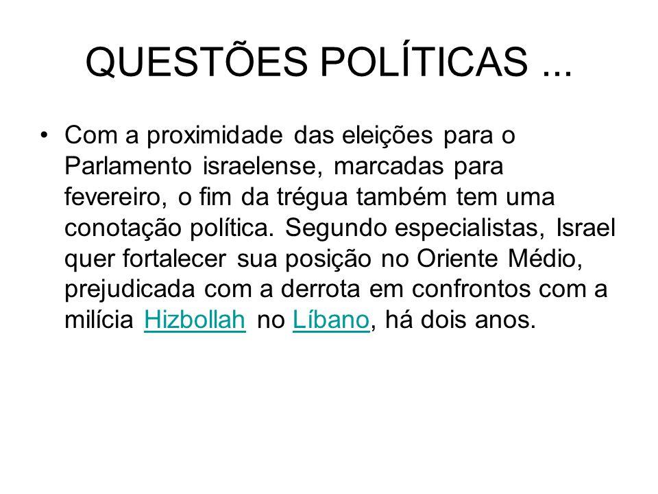 QUESTÕES POLÍTICAS...