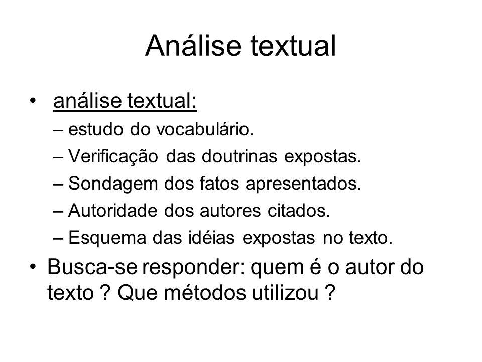 Análise temática Análise temática: De que trata o texto .
