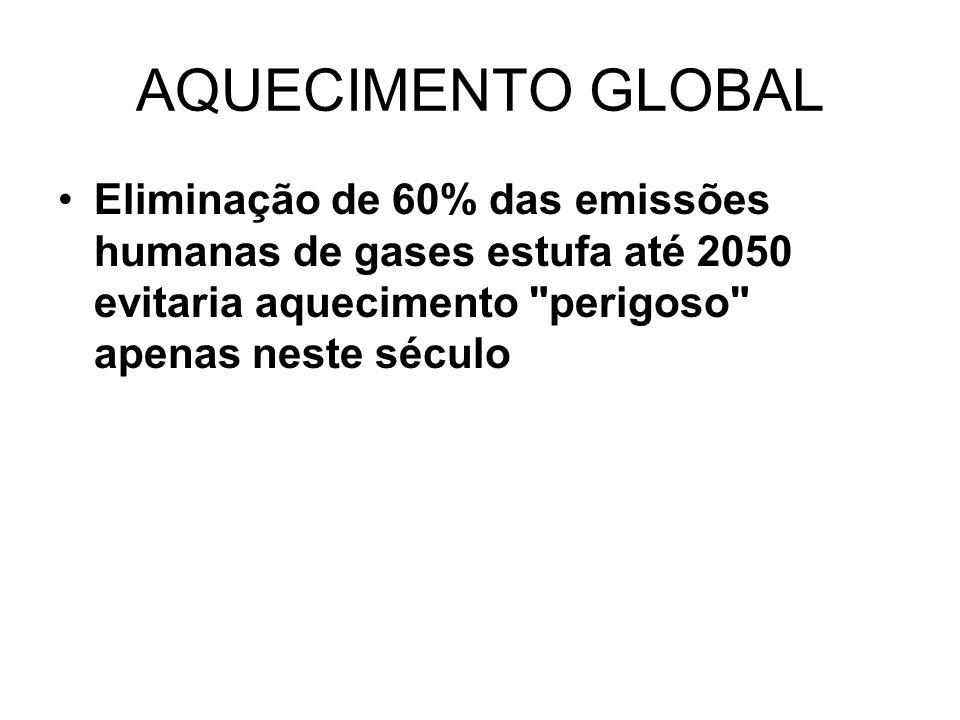Se a humanidade quiser uma solução duradoura para o problema do aquecimento global, será preciso cortar em 100% a emissão de gases do efeito estufa provenientes de atividades humanas.