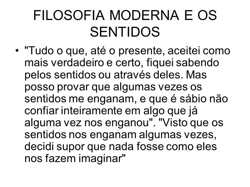 FILOSOFIA MODERNA E OS SENTIDOS