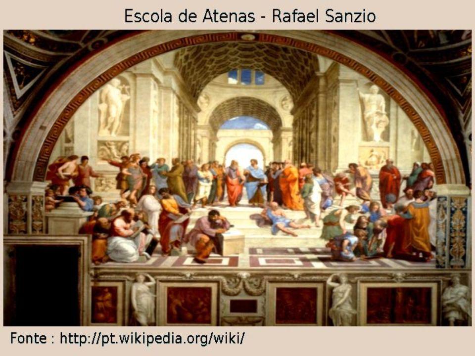 A escola de Atenas foi pintada em 1510 no Vaticano para o papa Júlio II.