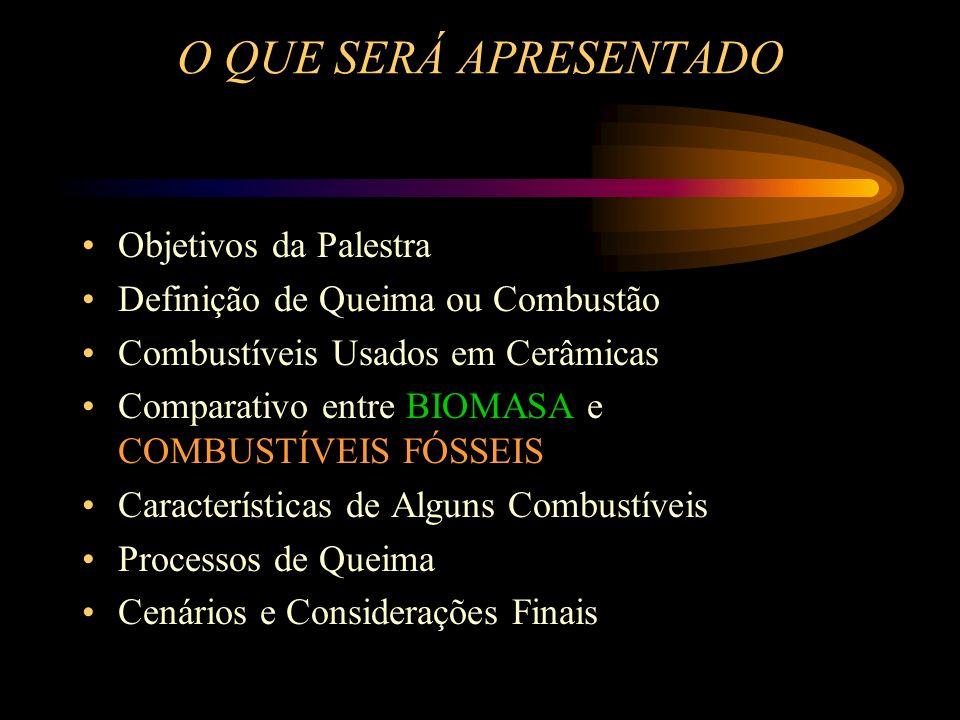 COMPARATIVO ENTRE BIOMASSA E COMBUSTÍVEIS FÓSSEIS Sob os seguintes aspectos : Técnicos Econômicos Ambientais Sociais Estratégicos