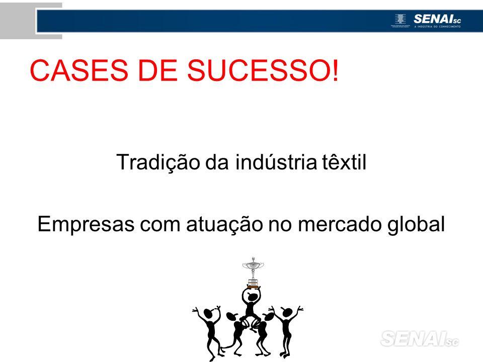 CASES DE SUCESSO! Tradição da indústria têxtil Empresas com atuação no mercado global