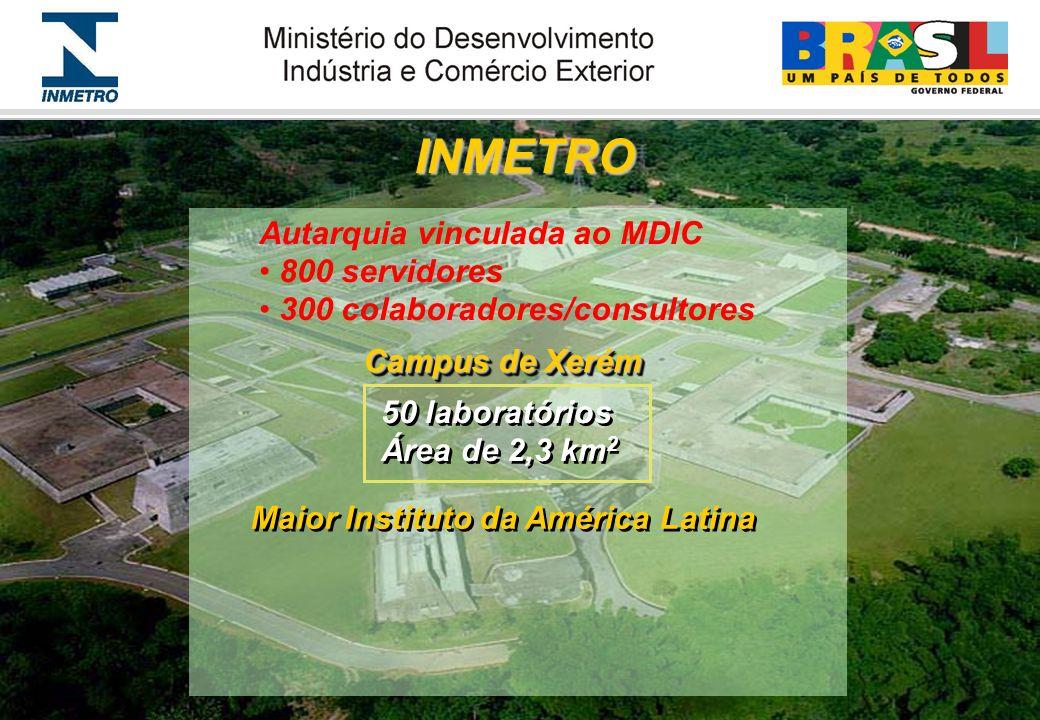 MISSÃO Atender as necessidades em Metrologia, Normalização e Qualidade, com liderança tecnológica, em suporte ao desenvolvimento econômico e social brasileiro