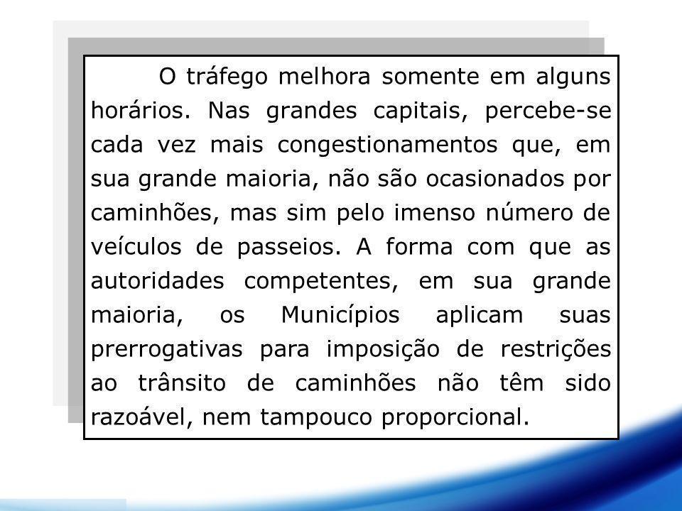 Prejuízos das restrições de trânsito PrejudicadosPrejuízos País Barreira para o desenvolvimento e economia.