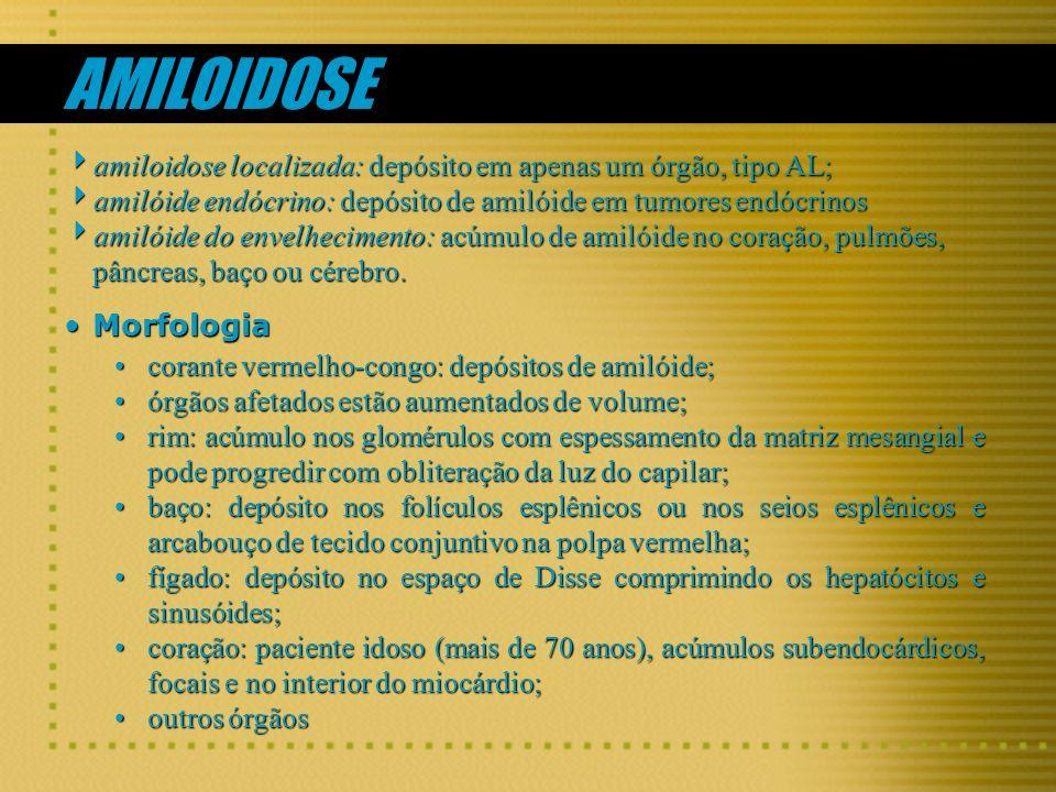 AMILOIDOSE amiloidose localizada: depósito em apenas um órgão, tipo AL; amiloidose localizada: depósito em apenas um órgão, tipo AL; amilóide endócrin
