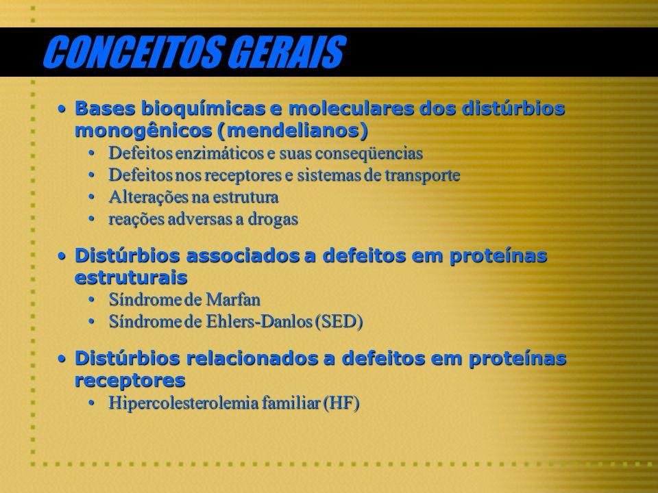 CONCEITOS GERAIS Bases bioquímicas e moleculares dos distúrbios monogênicos (mendelianos)Bases bioquímicas e moleculares dos distúrbios monogênicos (m