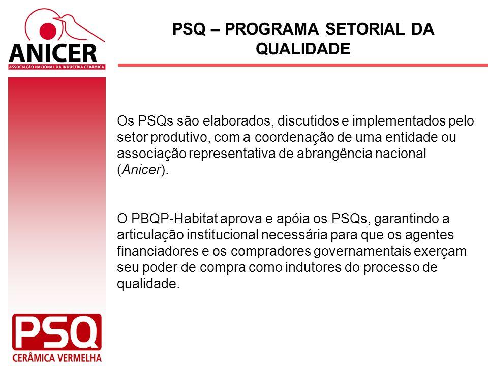 Os PSQs são elaborados, discutidos e implementados pelo setor produtivo, com a coordenação de uma entidade ou associação representativa de abrangência