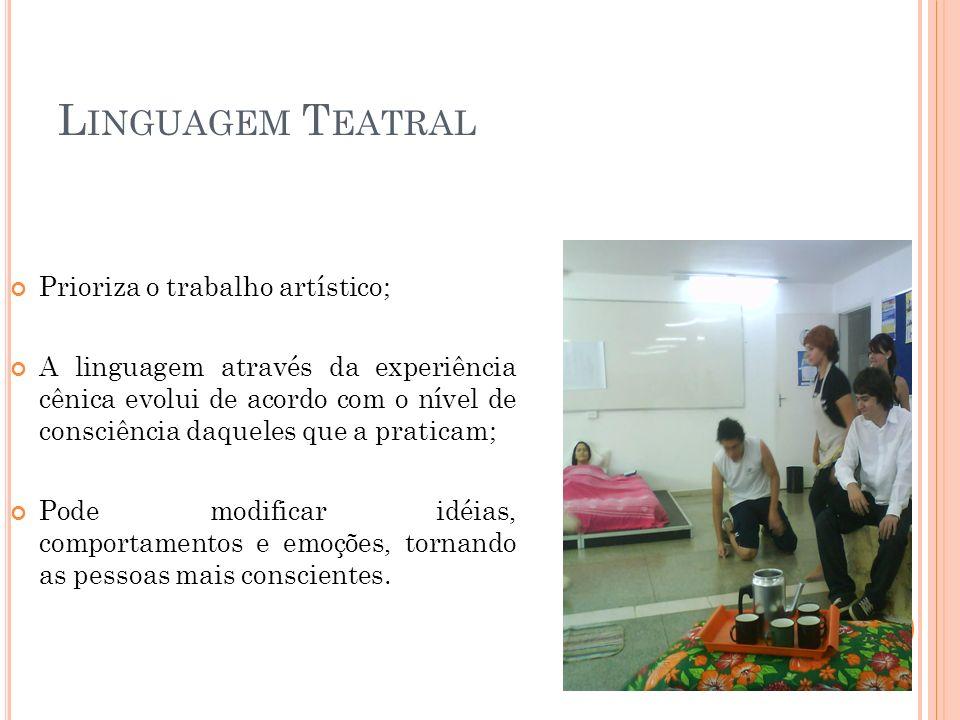 S IGNOS T EATRAIS Apresentam uma relação de semelhança; União entre o significante e o significado; Elementos constituintes da linguagem teatral, com características específicas.