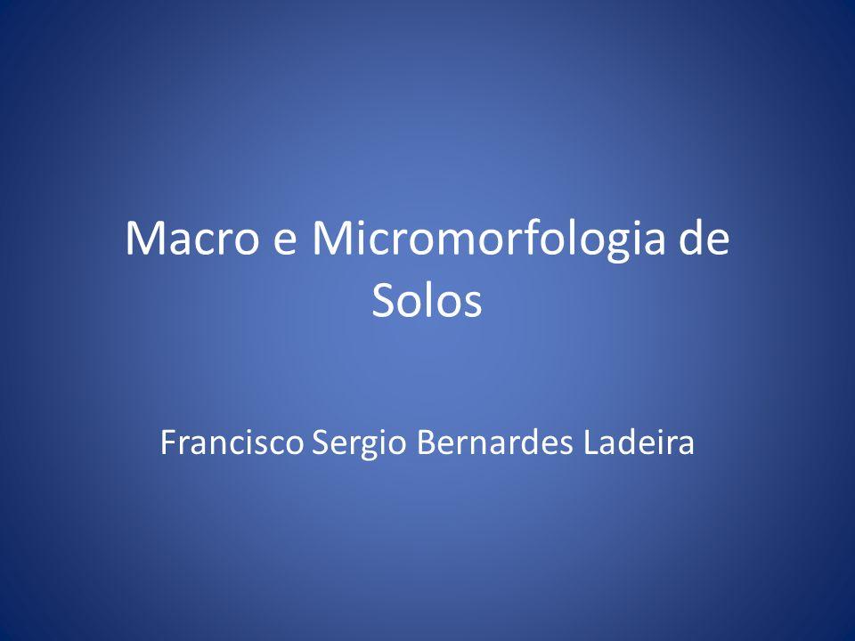 Macro e Micromorfologia de Solos Francisco Sergio Bernardes Ladeira