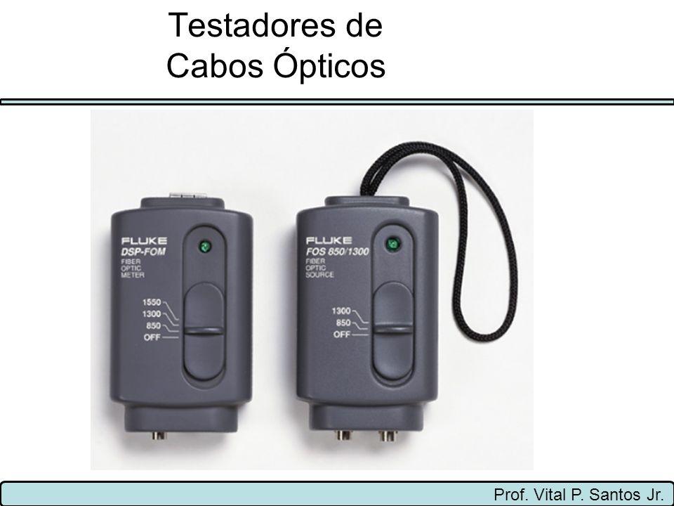 Prof. Vital P. Santos Jr. Testadores de Cabos Ópticos