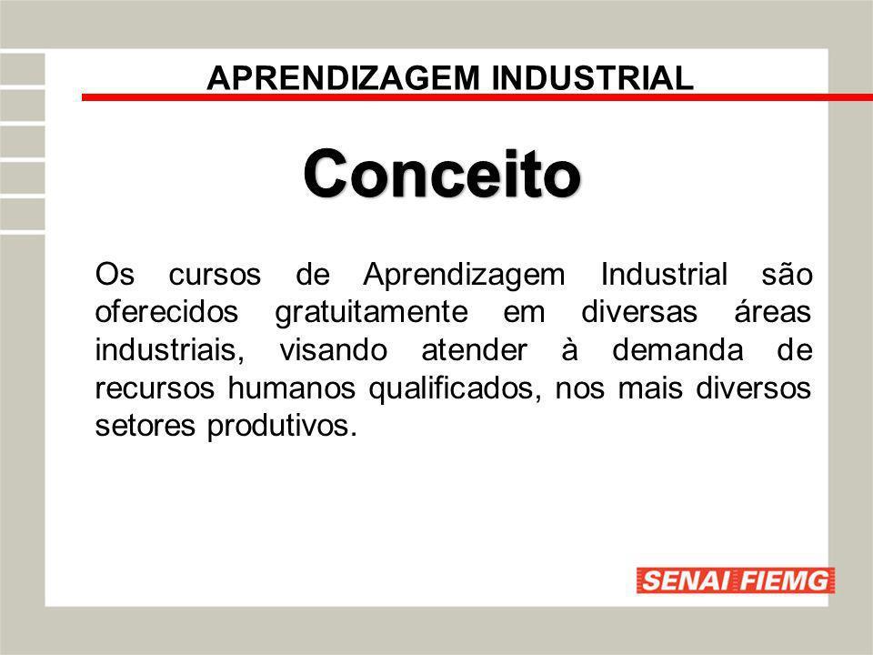 APRENDIZAGEM INDUSTRIAL Os cursos de Aprendizagem Industrial são oferecidos gratuitamente em diversas áreas industriais, visando atender à demanda de
