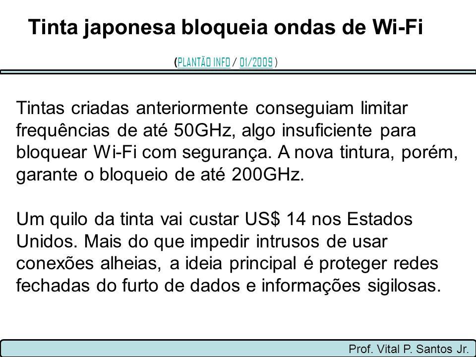 Prof. Vital P. Santos Jr. Tintas criadas anteriormente conseguiam limitar frequências de até 50GHz, algo insuficiente para bloquear Wi-Fi com seguranç