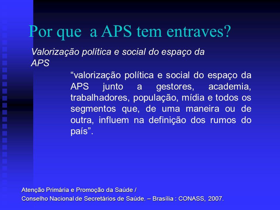 valorização política e social do espaço da APS junto a gestores, academia, trabalhadores, população, mídia e todos os segmentos que, de uma maneira ou