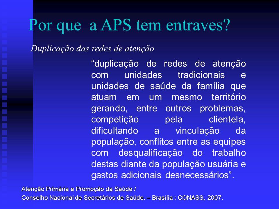Duplicação das redes de atenção Por que a APS tem entraves? Atenção Primária e Promoção da Saúde / Conselho Nacional de Secretários de Saúde. – Brasíl