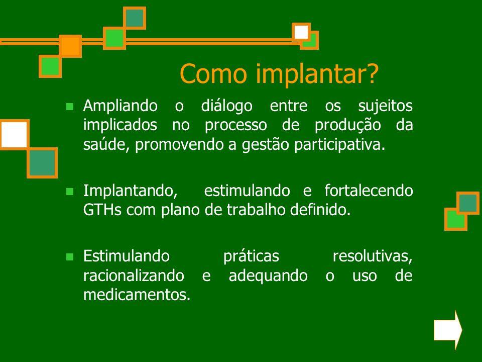 Como implantar.