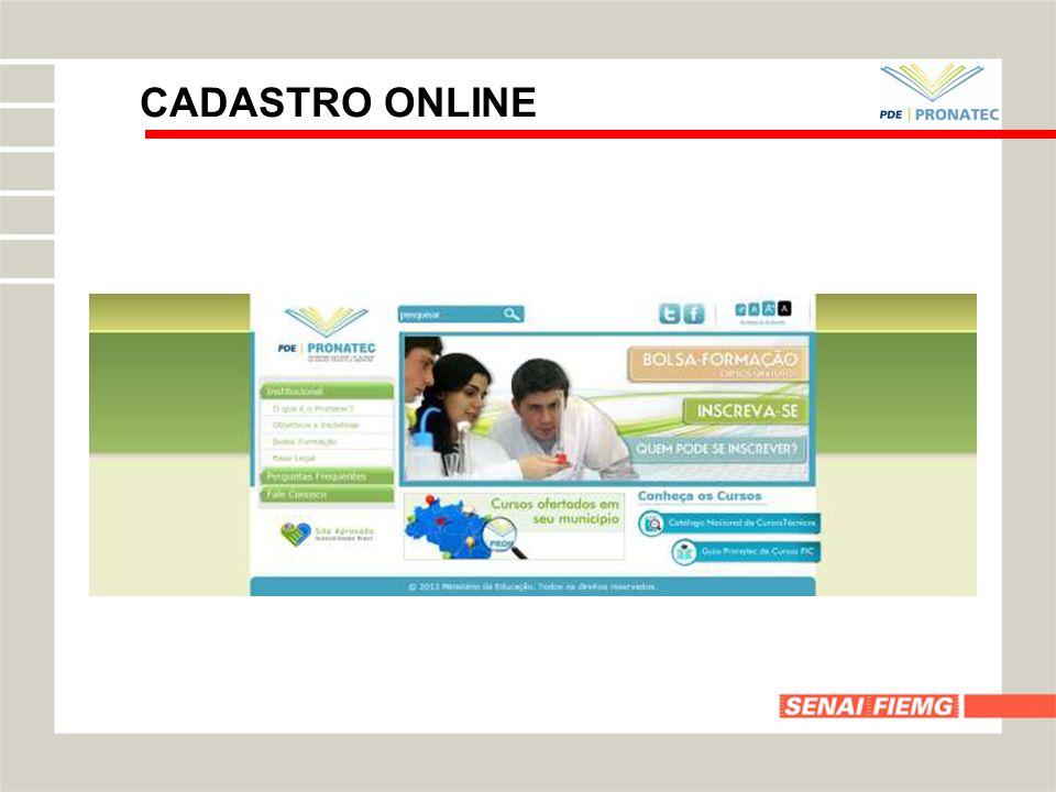 CADASTRO ONLINE