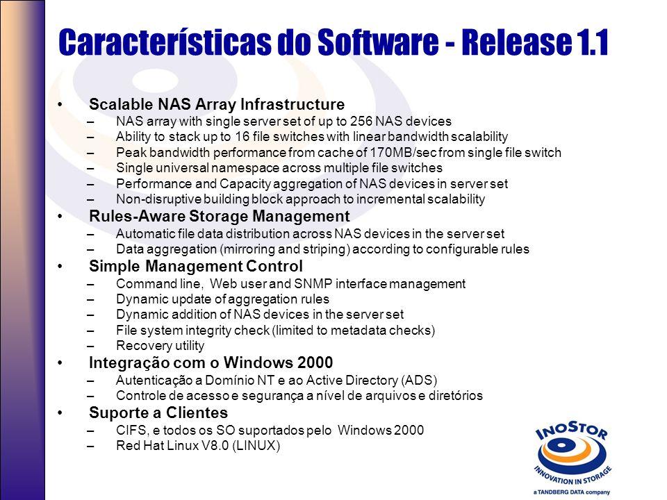 Especificações do Software e Hardware do File Switch