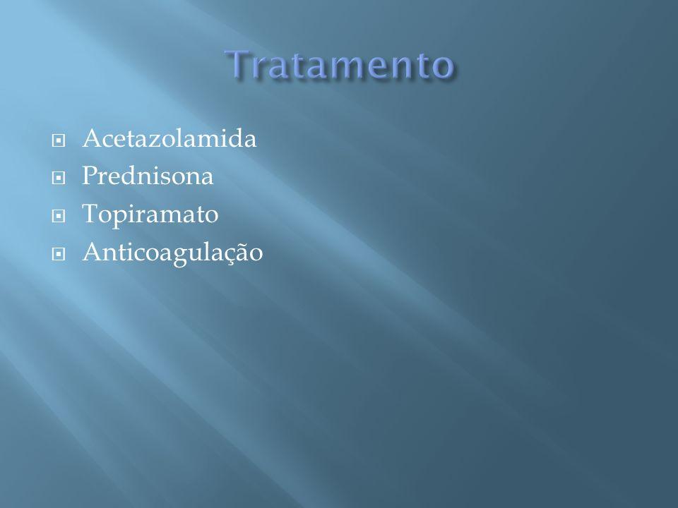 Acetazolamida Prednisona Topiramato Anticoagulação