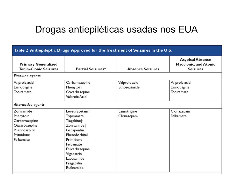 Drogas antiepiléticas usadas nos EUA