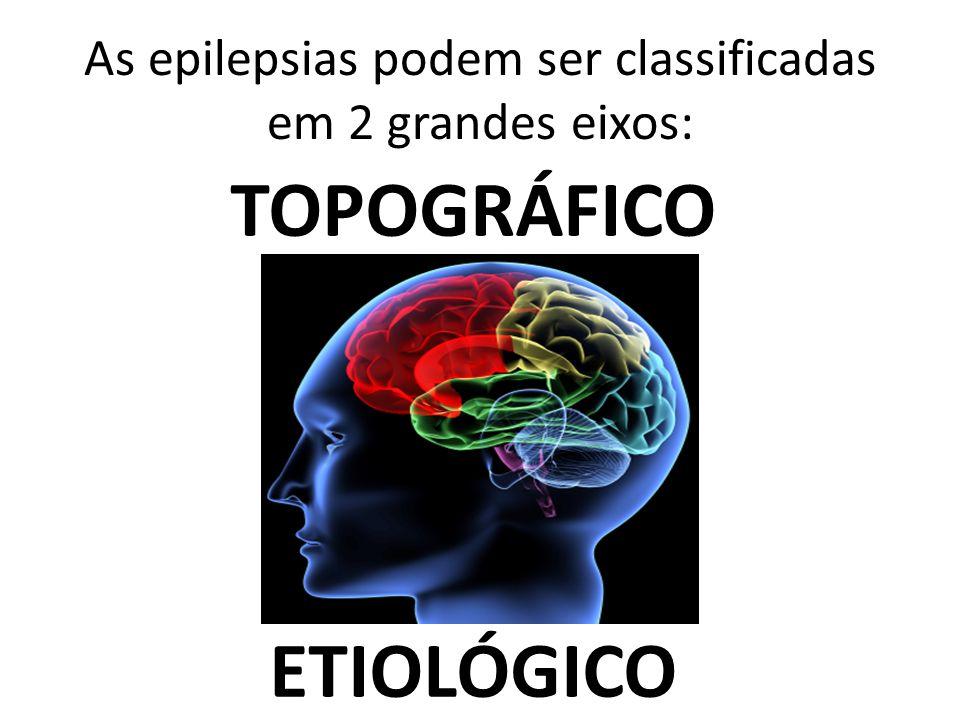 As epilepsias podem ser classificadas em 2 grandes eixos: TOPOGRÁFICO ETIOLÓGICO