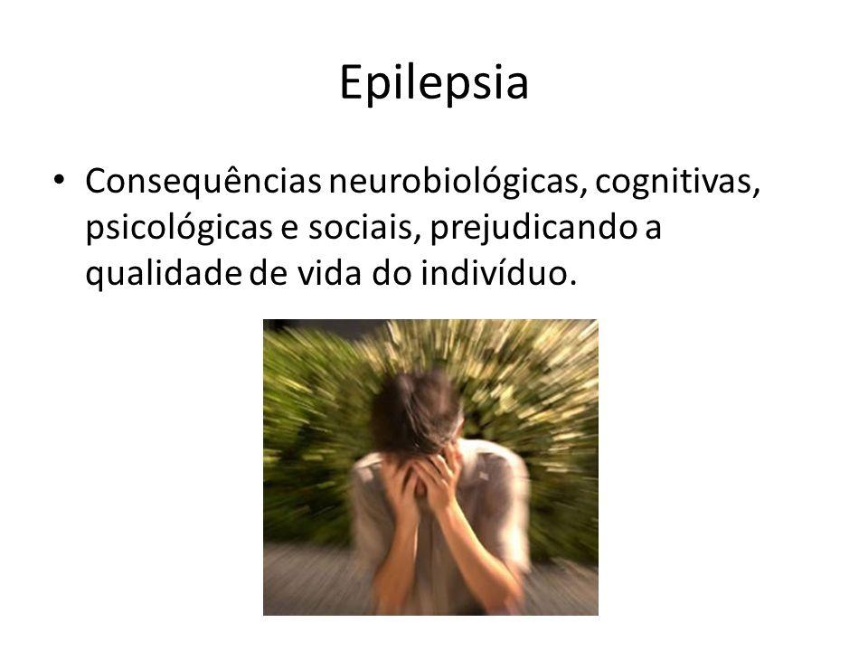 Epilepsia Consequências neurobiológicas, cognitivas, psicológicas e sociais, prejudicando a qualidade de vida do indivíduo.