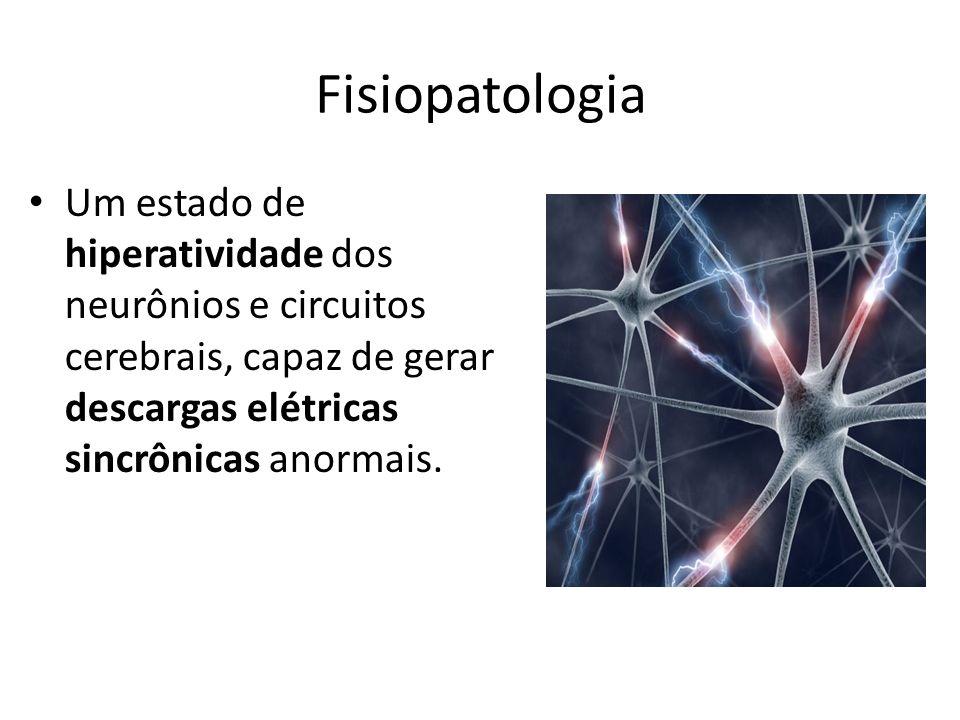 Fisiopatologia Um estado de hiperatividade dos neurônios e circuitos cerebrais, capaz de gerar descargas elétricas sincrônicas anormais.
