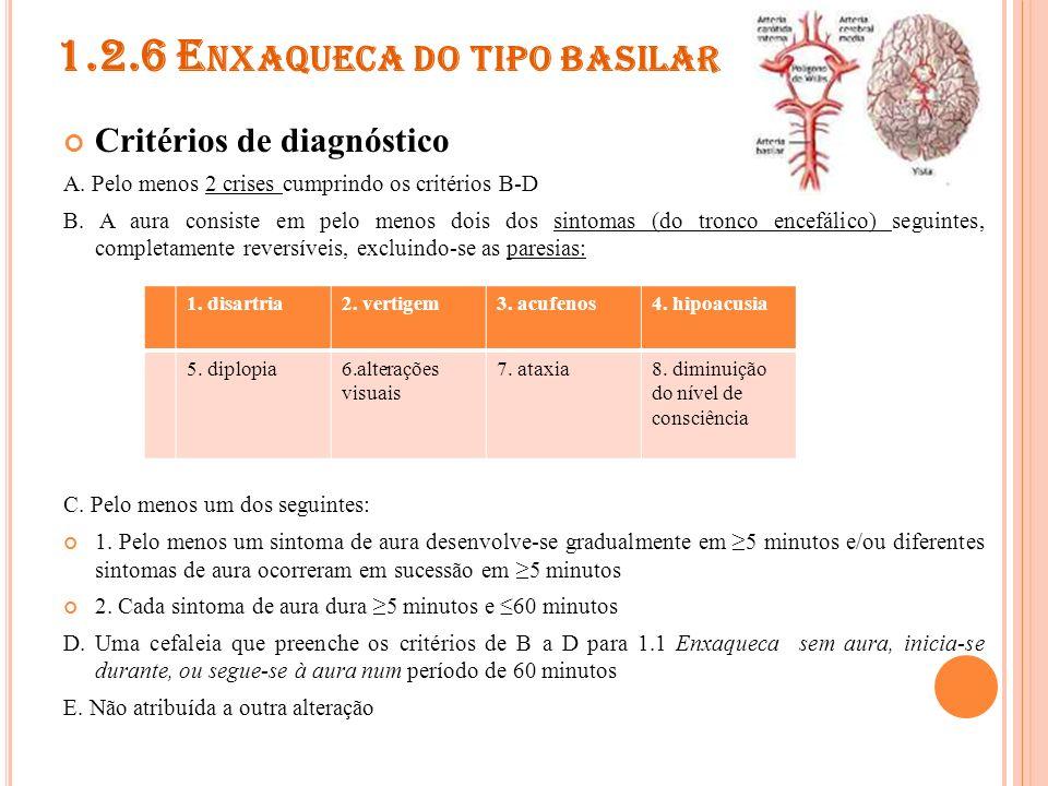 1.3 SÍNDROMES PERIÓDICAS DA INFÂNCIA COMUMENTE PRECURSORAS DE ENXAQUECA 1.3.1 Vômitos cíclicos 1.3.2 Enxaqueca abdominal 1.3.3 Vertigem paroxística benigna da infância
