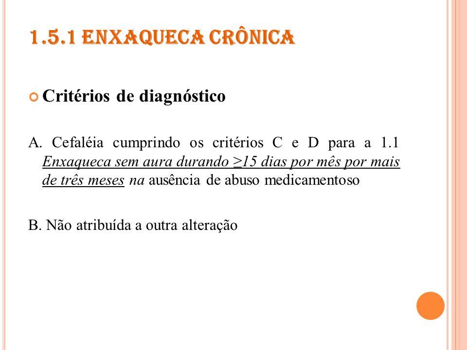 1.5.2 E STADO DE MAL DE ENXAQUECA Critérios de diagnóstico A.