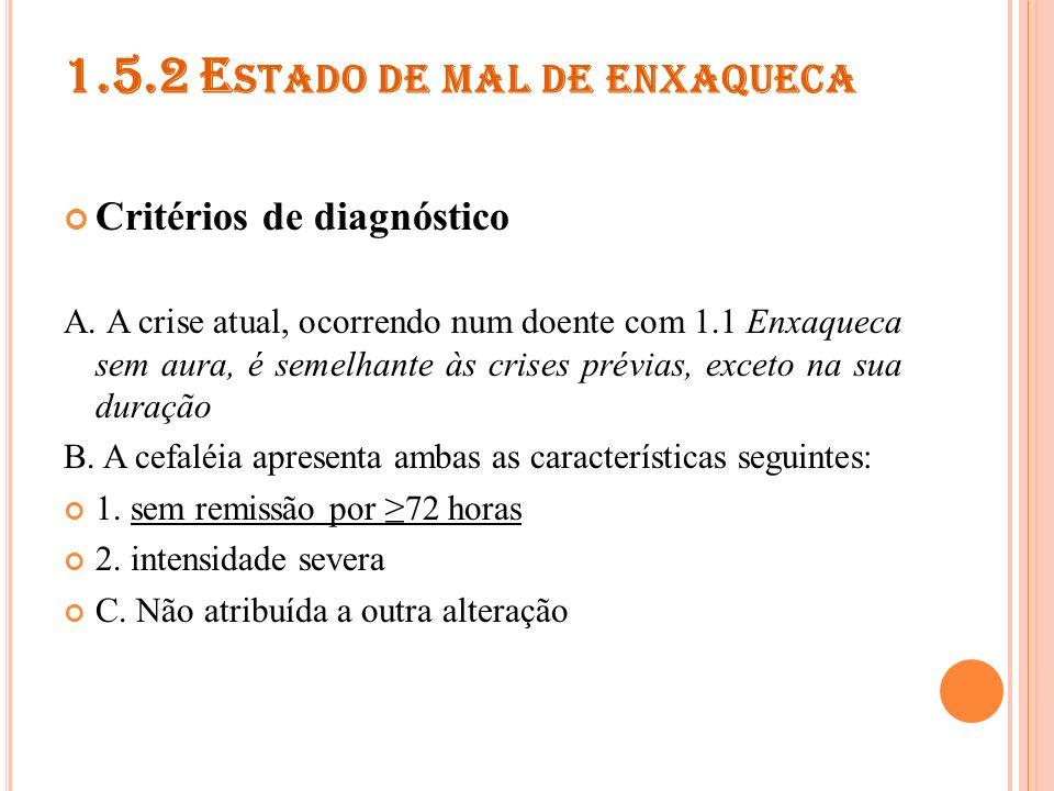 1.5.3 A URA PERSISTENTE SEM ENFARTO Critérios de diagnóstico A.