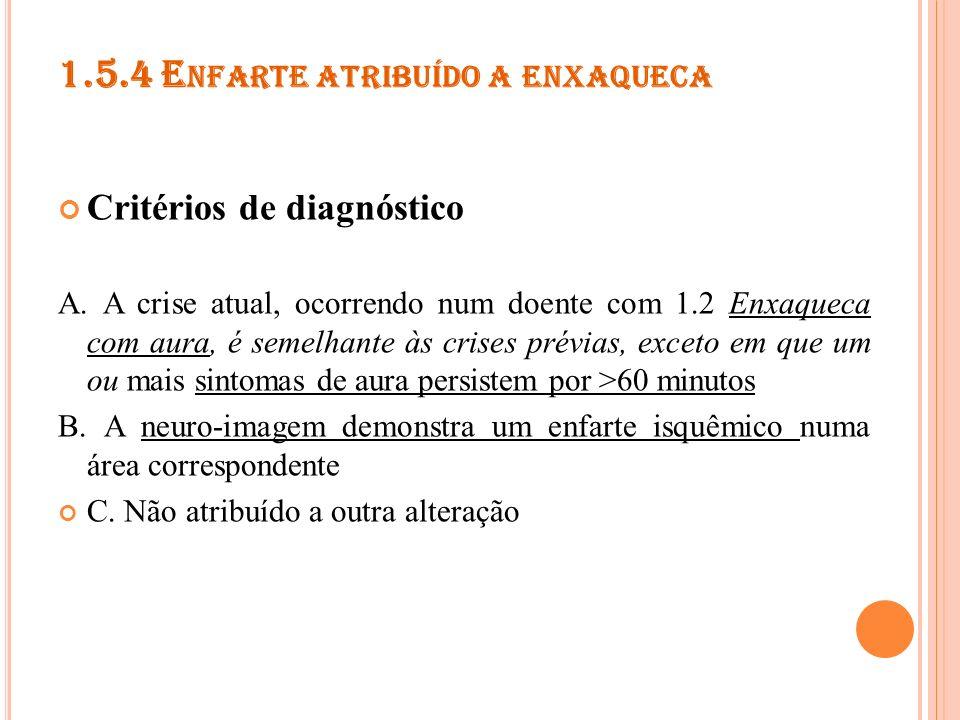 1.5.5 C RISE EPILÉPTICA DESENCADEADA POR ENXAQUECA Critérios de diagnóstico A.