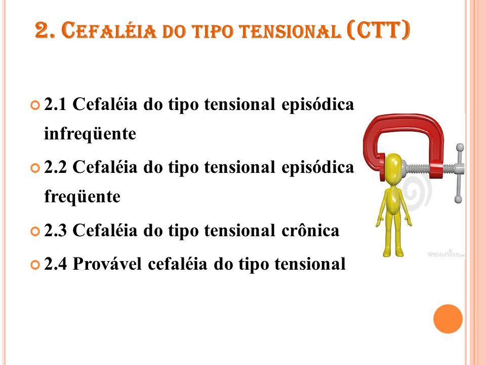 2.1 C EFALÉIA DO TIPO TENSIONAL EPISÓDICA INFREQÜENTE Critérios de diagnóstico A.