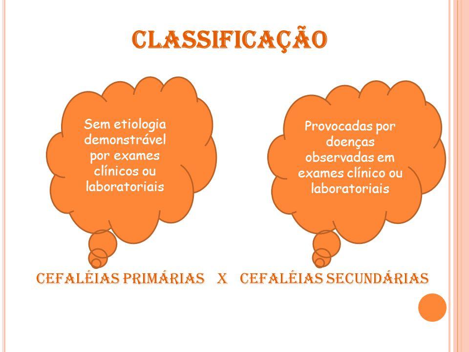 CEFALÉIAS PRIMÁRIAS 1.Enxaqueca 2.