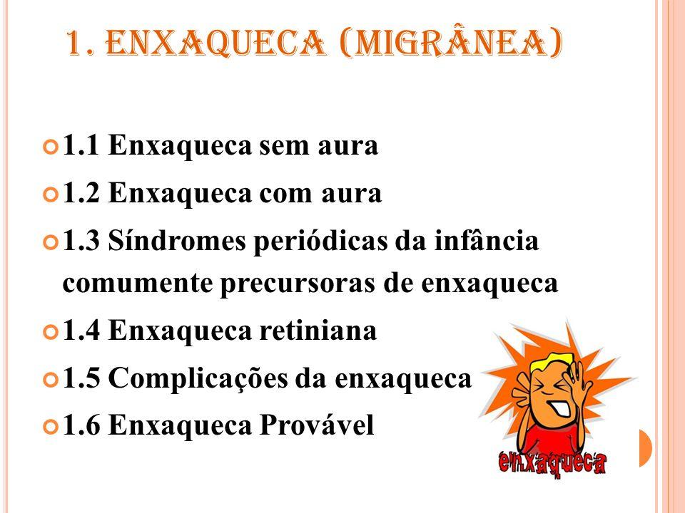 1.1 E NXAQUECA SEM AURA Critérios diagnósticos A.