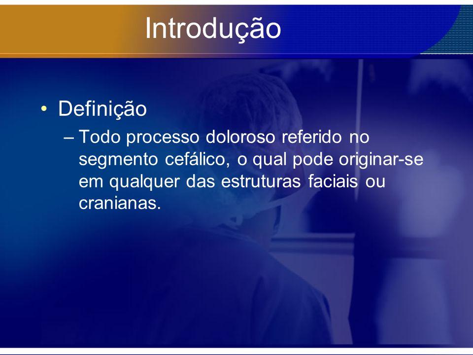 Introdução Representa, possivelmente, o sintoma mais freqüentemente referido na prática clínica.