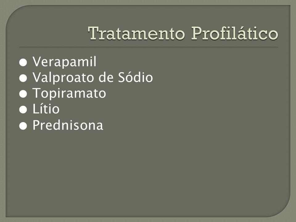 Verapamil Valproato de Sódio Topiramato Lítio Prednisona