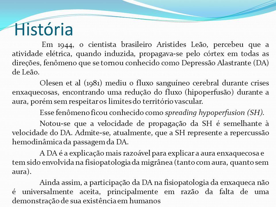 História Em 1944, o cientista brasileiro Aristides Leão, percebeu que a atividade elétrica, quando induzida, propagava-se pelo córtex em todas as dire