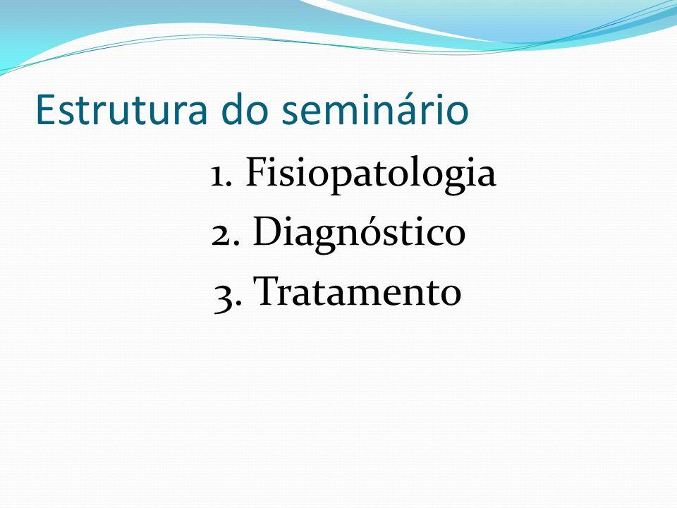Estrutura do seminário 1. Fisiopatologia 2. Diagnóstico 3. Tratamento